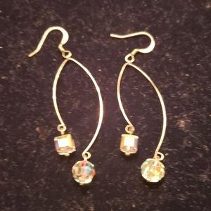 Swarovski crystal dangling earrings